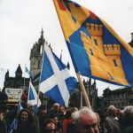 Scots on the march Picture: Trevor Grundy